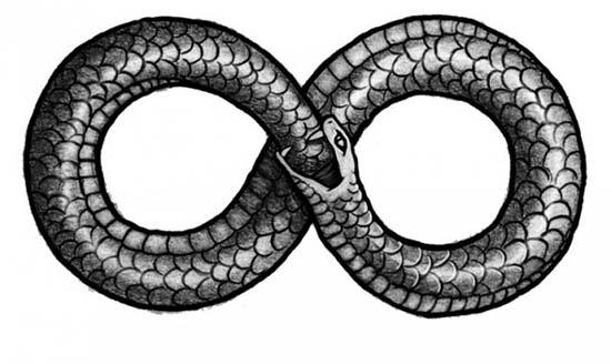 Ouroboros, símbolo de infinito