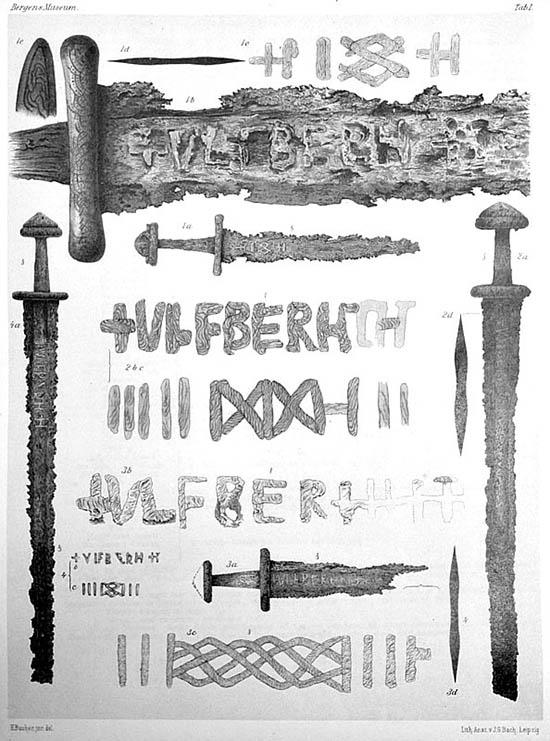 Cuatro espadas Ulfberht